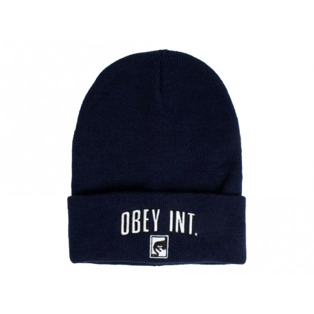 Cappello invernale Obey international beanie blu