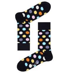 Happy Socks Big Dots calzino donna colore nero e fantasia