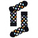 Happy Socks Big Dots calzino donna colore nero e fantasia