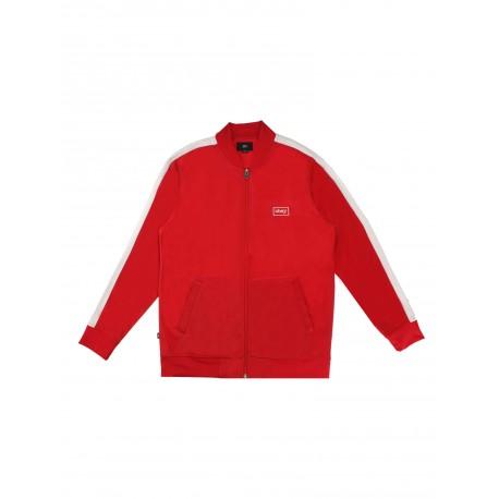 Giacca tuta Obey da uomo Borstal track jacket rosso