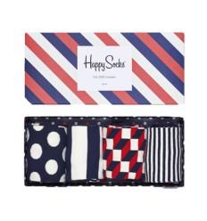 Happy socks calzino Stripe Gift box da 4 uomo multicolore