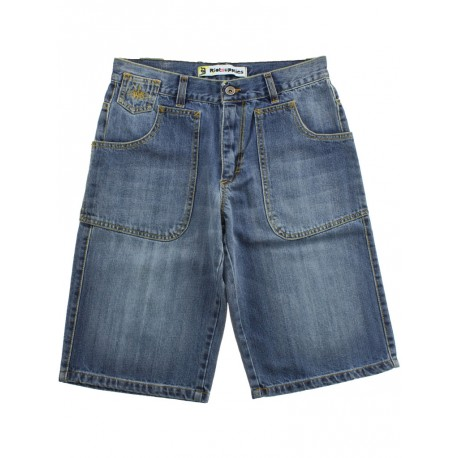 Bermuda Ies uomo Freak jeans tasconi chiaro