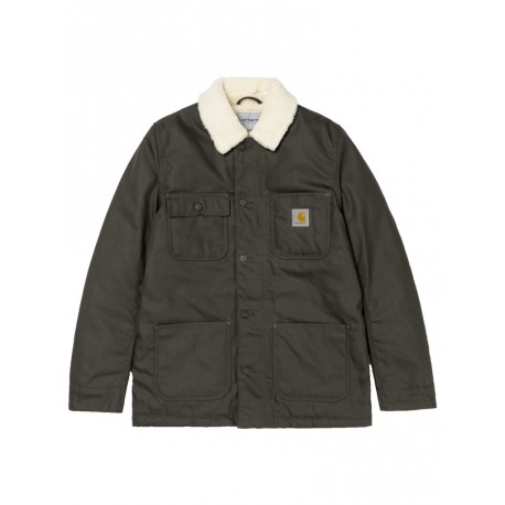Giacca Carhartt Fairmount Coat uomo pelliccia sintetica verde scuro
