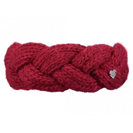 Fascia capelli Barts da donna con fascia interna in pile intrecciata rosso