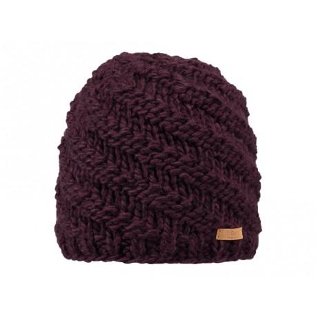 Cappello da donna Barts in maglia intrecciata bourdeaux