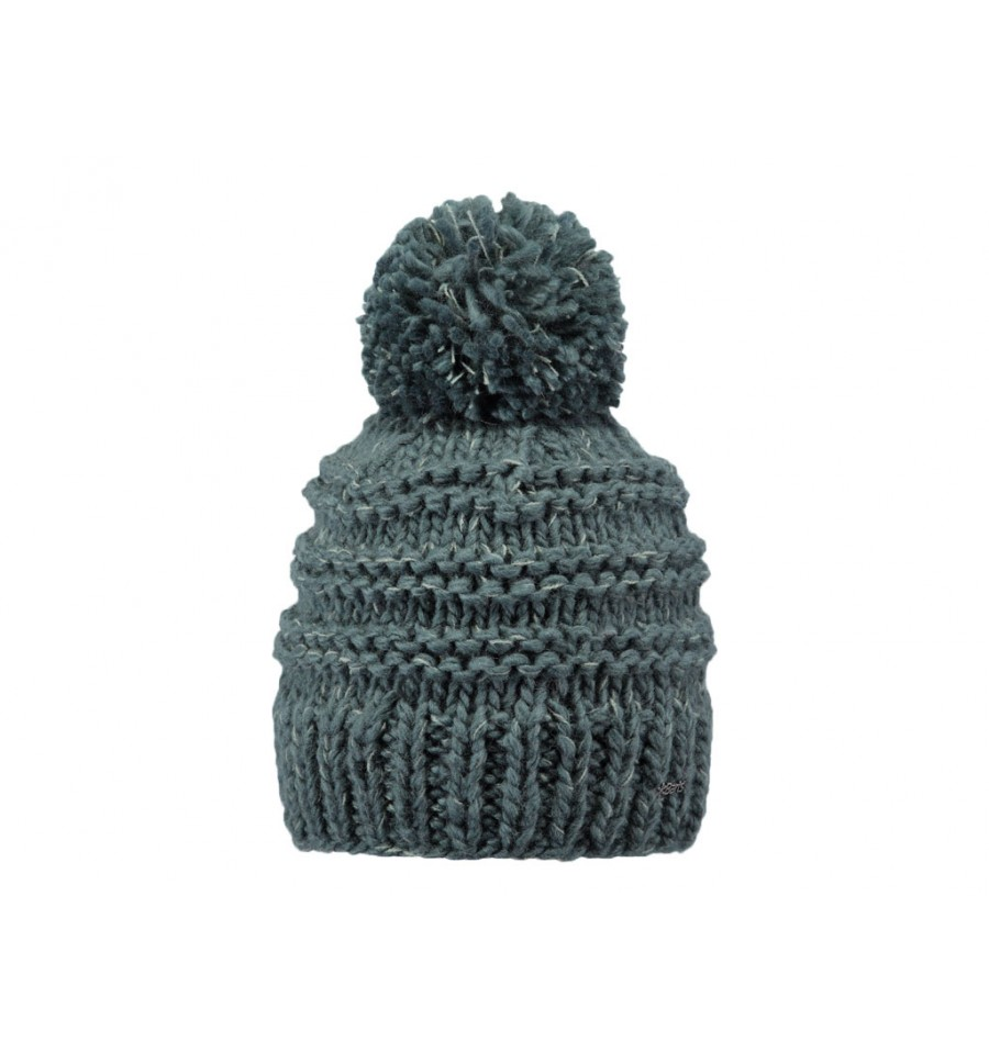 Cappello Barts da donna in maglia con pon pon verde scuro 0287da089180