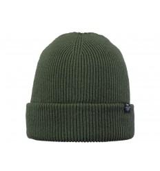 Cappello Barts da uomo a coste con risvolto verde scuro
