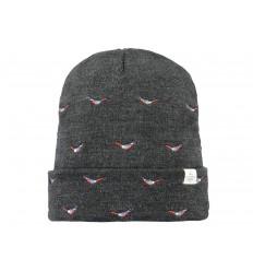 Cappello Barts da uomo con disegni ricamati grigio scuro
