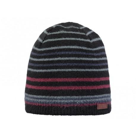 Cappello Barts uomo donna invernale a righe colorate nero