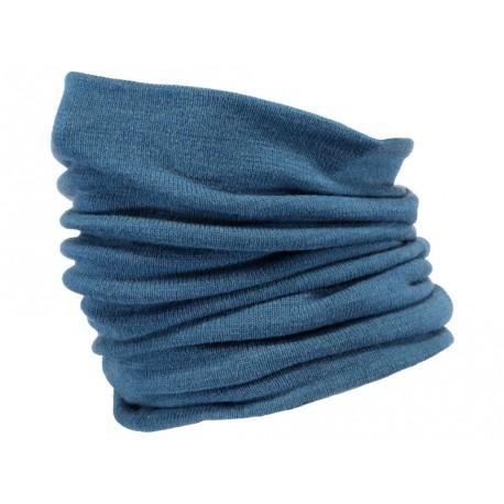 Sciarpa Barts scaldacollo uomo donna in maglia fine azzurra