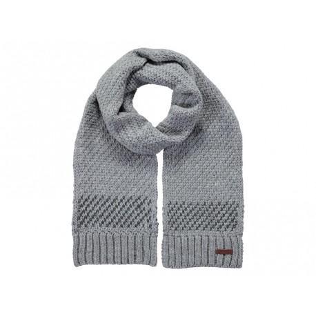 Sciarpa Barts da uomo in maglia invernale lunga grigio chiaro