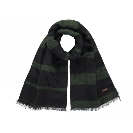 Sciarpa Barts da uomo a strisce con frange invernale nero