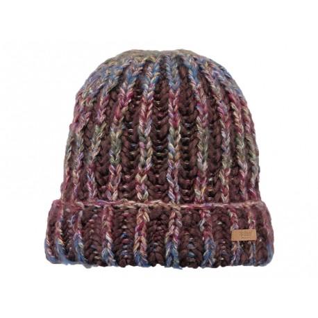 Cappello Barts in maglia con fascia interna in pile marrone