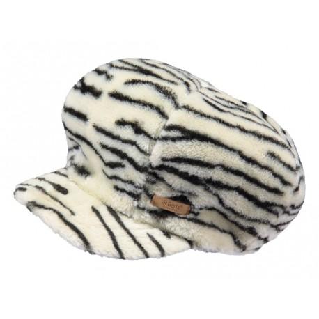 Cappello con visiera Barts zebrato da donna bianco
