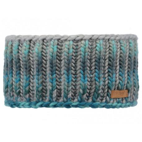 Fascia per capelli Barts da donna in maglia azzurro