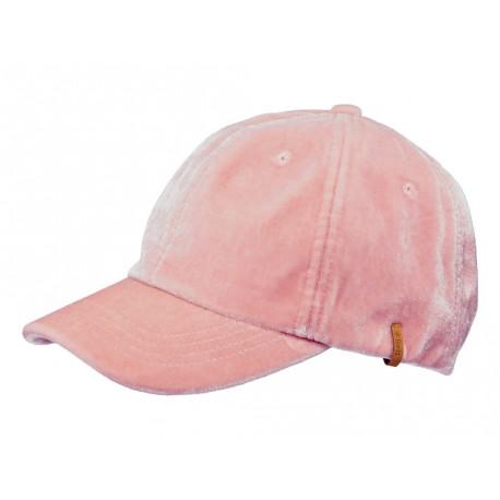 Cappello con visiera Barts da donna in velluto rosa