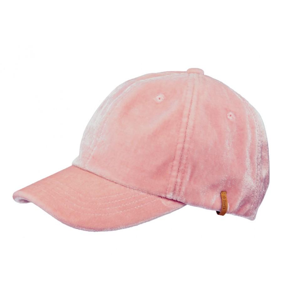 Cappello con visiera Barts da donna in velluto rosa b86b6abbd152