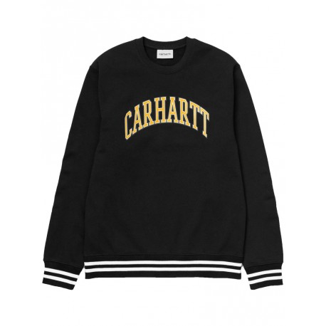 Felpa Carhartt knowledge sweat uomo nero