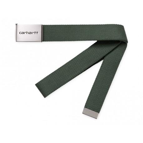 Cintura Carhartt uomo clip belt chrome verde