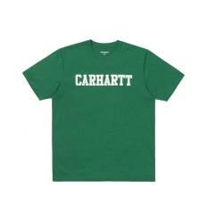 T shirt Carhartt College uomo verde