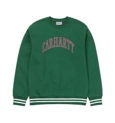 Felpa Carhartt knowledge sweat uomo verde