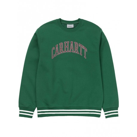 Felpa Carhartt knowledge sweat uomo verde
