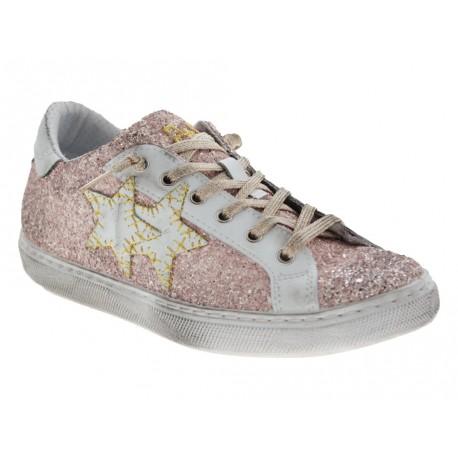 Scarpe 2Star da donna glitter star rosa
