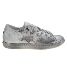 Scarpe 2Star da donna star laminate argento