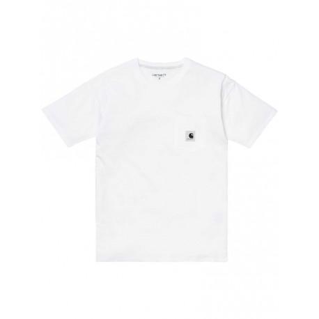 T shirt Carhartt Woman s/s Carrie pocket da donna bianco