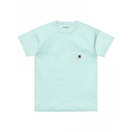 T shirt Carhartt Woman s/s Carrie pocket da donna verde