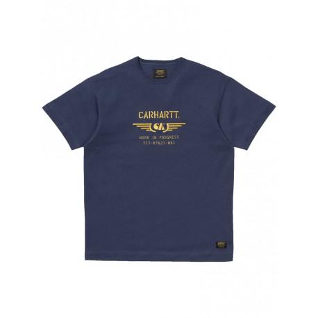 T shirt Carhartt S/s CA Wings da uomo blu