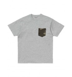 T shirt Carhartt uomo Lester Pocket grigio chiaro