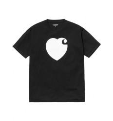 T shirt Carhartt donna S/s Woman Hartt nero