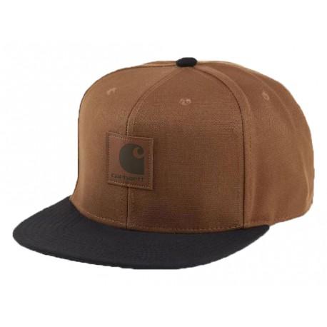 Cappello con visiera Carhartt Logo cap Bi-colored uomo marrone chiaro