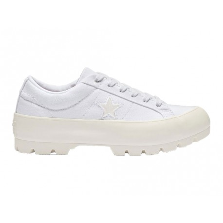 Scarpe Converse One Star Lugged Ox donna bianco