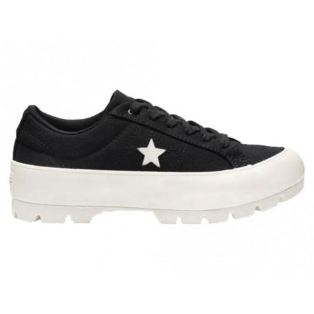 Scarpe Converse One Star Lugged Ox donna nero