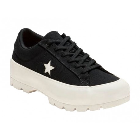 Scarpe Converse One Star Lugged Ox donna nero