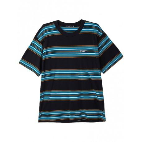 T shirt Obey Route Classic Tee Ss da uomo nero