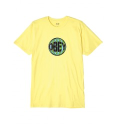 T shirt Obey Ball Basic Tee da uomo giallo