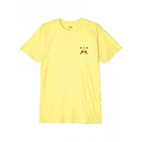 T shirt Obey Cherries 2 Basic Tee da uomo giallo