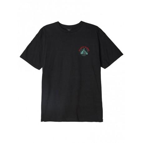 T shirt Obey No justice No peace Basic Tee da uomo nero