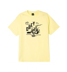 T shirt Obey Wasteland Basic Tee da uomo giallo