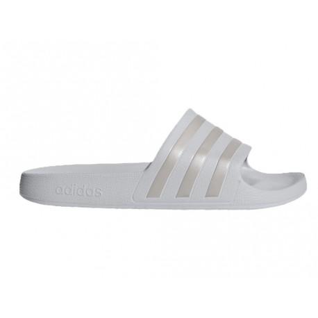 Ciabatte Adidas Adilette slide-on uomo donna grigio chiaro