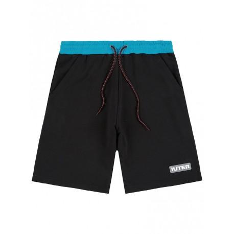 Bermuda Iuter Logo shorts da uomo nero
