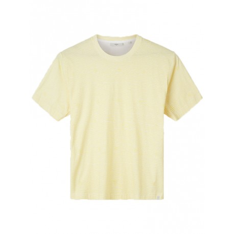 T-shirt Minimum Asker 3548 righe da uomo giallo
