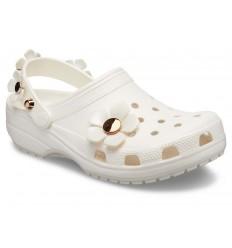 Sandalo Crocs Classic Blooms Clog donna bianco
