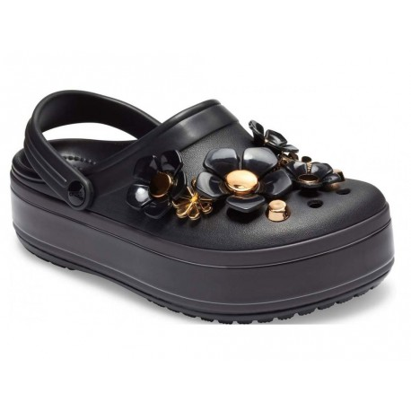 Sandalo Crocs Platform Blooms Clog donna nero