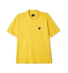 Polo Obey Giant heart Ss da uomo giallo