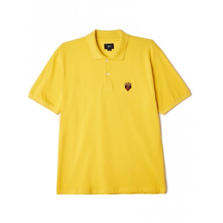 Polo Obey Giant heart Ss da uomo giallo