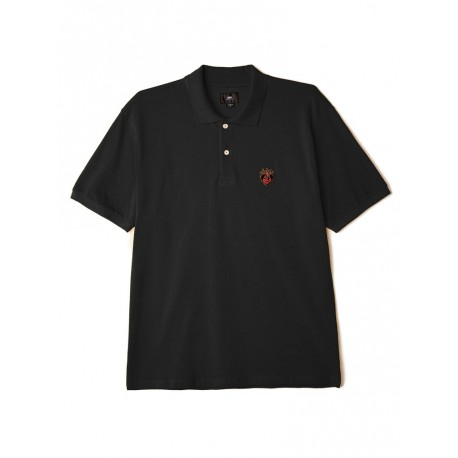 Polo Obey Giant heart Ss da uomo nero